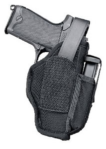 Uncle Mikes Ambidextrous Hip Holster w/Mag Pouch/3.75 in -4.5 in Barrel Med Auto, Model 70150