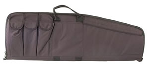 Uncle Mikes Black Tactical Rifle Case w/Five Magazine Pouches 52121, 33 in
