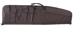 Uncle Mikes Black Tactical Rifle Case w/Five Magazine Pouches 52141, 41 in