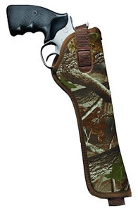 Uncle Mikes Hip Holster/3 in -4 in Barrel Med/Large Double Action Revolvers, Right Hand, Camo, Model 80026