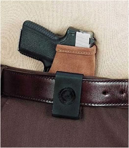 Galco STO460 Stow-N-Go Natural Suede Inside The Pants Holster For Kahr Arms MK40/MK9/PM40/PM9