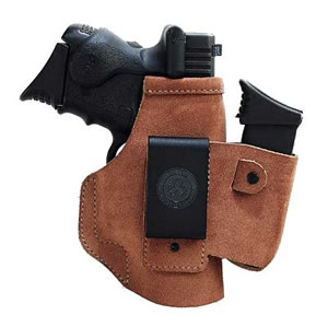 Galco WLK286 Walk About Natural Suede Inside The Pants Holster For Glock 26/27/33