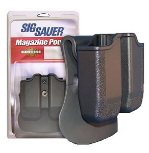 Sig Double Mag Pouch MAGPDBL226, Black, Fits 226 9mm/.40 caliber and 229 9mm
