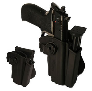 Sig  Holster/Mag Pouch Combo HOLMOSIMP, Black, Fits Sig Mosquito