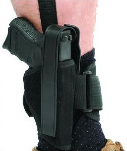 Blackhawk  Ankle Holster 40AH16BKR, Black, Fits Med/Lrg auto - Medium Revolver