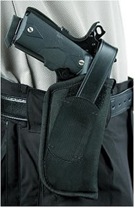 Blackhawk  Nylon Hip Holster 40HT02BKR, Black, Fits Medium/Intermediate Revolver 4 in BBL