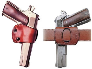 Galco YAQ213 Yaqui Tan Left Hand Belt Slide Holster w/Open Muzzle For 1911 Style Auto w/5 in Barrel