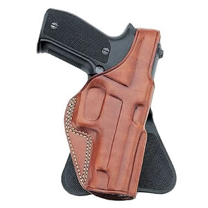 Galco PLE286B P.L.E. Professional Law Enforcement Paddle Holster For Glock Model 26/27/33, Black