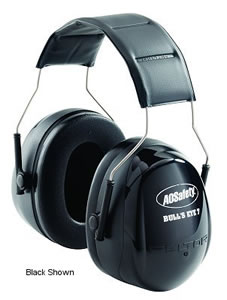 Peltor 97006 Bullseye Earmuff w/Soft Cushions & Simple Height Adjustment, NRR 27 dB, Black
