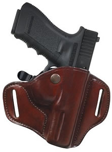 Bianchi Carrylok Belt Holster, Tan, Model 22142, For Colt Govt; BRN Hi-Power; SW 1911; SPRGF 1911-A