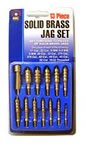 DAC BRT888  13 Piece Brass Cleaning Jag Set 10/32 in
