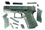 Decal G17FG Grip Enhancer For Glock 17 w/Finger Grooves  Sand/Black