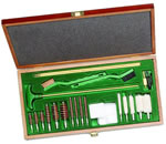 Remington 19054  Sportsman Cleaning Kit W/Wooden Box/Ramrod/Brushes/Patches & Swab