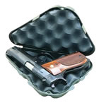 MTM Pocket Pistol Case 802C40, Black, PolymerSize :9.3 in x 5.16 in x 2 in