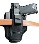 Uncle Mikes Ambidextrous Hip Holster w/Belt Clip/4 in Barrel Med Double Ac, Model 70020
