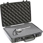 Pelican 1470 Hard Case Watertight/Crushproof/Pressure Valve/Black Finish, 16x13x4