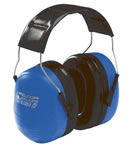 Peltor 97010 Bullseye Ultimate Padded Headband Muff w/Foam Ear Cushions, NRR 29 dB, Black/Blue