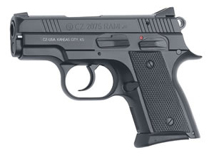 CZ Model 2075 Rami Pistol 01752, 9 MM, 3 in BBL, Sngl / Dbl, Blk Rubber Grips, Adj Sights, Blk Finish, Polymer Frame, 14 + 1 Rds
