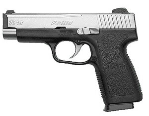 Kahr Model TP9 Pistol TP9093, 9 MM, 4 in BBL, Dbl Actn Only, Polymer Grips, Blk Polymer/SS Finish, 8 + 1 Rds