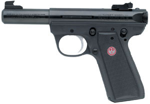 Ruger Model 22/45 Mark III P4MK3 Pistol 10109, 22 Long Rifle, 4 in in BBL, Single, Black Syn Grips, Blue Steel Finish, 10 + 1 Rds, Adj Sights
