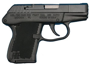 Kel-Tec Model P-3AT Pistol P3ATPK, 380 ACP, 2 3/4 in in BBL, Double, Polymer Grips, Parkerized Finish, 6 + 1 Rds