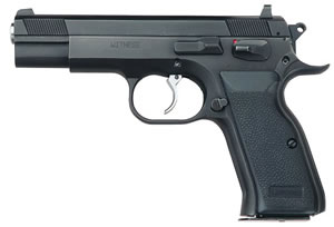 EAA Witness Pistol 999103, 40 S&W, 4 1/2 in BBL, Sngl / Dbl, Rubber Grips, Adj Sights, Blue Finish, 15 + 1 Rds