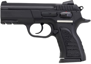 EAA Witness Pistol 999106, 9 MM, 3.6 in BBL, Sngl / Dbl, Polymer Grips, Adj Sights, Blue Finish, 12 + 1 Rds