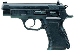 EAA Witness Pistol 999154, 45 ACP, 3.6 in BBL, Sngl / Dbl, Polymer Grips, Adj Sights, Blue Finish, 8 + 1 Rds