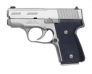 Kahr Model MK9 Elite Pistol M9098, 9 MM, 3 in BBL, Dbl Actn Only, Wrap Text Nylon Grips, Polished SS Finish, 6 + 1, 7 + 1 Rds