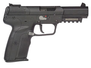 FN Herstal Model Five-Seven Pistol 3868929120, 5.7 MM X 28 MM, 4.8 in BBL, Sngl Actn Only, Polymer Grips, Adj Sights, Blk Finish, 20 + 1 Rds