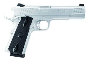 Taurus Model 1911 Pistol 11911099, 9 MM, 5 in BBL, Sngl Actn Only, Blk Grips, Novak Sights, Stainless Finish, 9 + 1 Rds