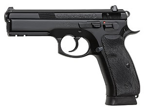 CZ Model 75 SP01 Tactical Pistol 91153, 9 MM, 4.7 in BBL, Sngl / Dbl, Rubber Grips, Fixed Night Sights, Decocker, Blk Finish, 18 + 1 Rds