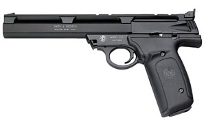 Smith & Wesson Model 22A Rimfire Pistol 107430, 22 Long Rifle, 7 in BBL, Sngl Actn Only, Blk Alloy / SS Finish, 10 + 1 Rds