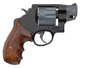 Smith & Wesson Model 327 Performance Center Revolver 170245, 357 Remington Mag, 2 in BBL, Sngl / Dbl, Wood Grips, Blk Finish, 8 Rds