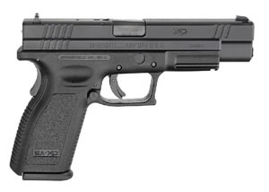 Springfield Model XD Package XD9403HCSP06, 357 SIG, 5 in BBL, Dbl Actn Only, Polymer Grips, Blk Finish, 12 + 1 Rds