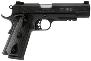 Taurus Model 1911 Large Frame Pistol 1191101B1, 45 ACP, 5 in BBL, Sngl Actn Only, Blk Grips, Fixed Sights, Blue Finish, 8 + 1 Rds