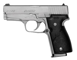Kahr Model K40 Pistol K4043A, 40 S&W, 3 1/2 in BBL, Dbl Actn Only, Syn Grips, Adj Sights, Mt Stainless Finish, 6 + 1 Rds