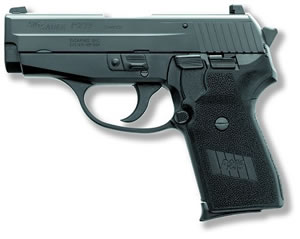 Sig Sauer P239 Pistol 239357BSS, 357 Sig, 3.6 in BBL, Sngl / Dbl, Polymer Grips, Night Sights, Blk Finish, 7 + 1 Rds