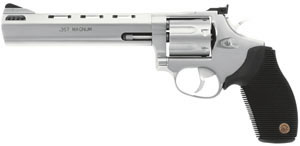 Taurus Model 627 Revolver 2627069, 357 Remington Mag, 6 1/2 in BBL, Sngl / Dbl, Ribber Grip Overlay, Fixed Sights, Mt Stainless Finish, Ported, 7 Rds