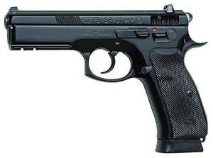 CZ Model P01 Pistol 01199, 9 MM, 3.9 in BBL, Sngl / Dbl, Blk Syn Grips, Fixed Sights, Blk Finish, 10 + 1 Rds