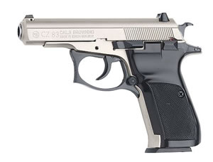 CZ Model 83 Pistol 01301, 380 ACP, 3.8 in BBL, Sngl / Dbl, Blk Syn Grips, Fixed Sights, Blue Finish, 10 + 1 Rds