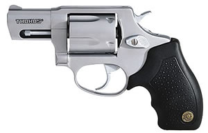 Taurus Model 605 Small Frame Revolver 2605029, 357 Remington Mag, 2 in BBL, Sngl / Dbl, Rubber Grips, Fixed Sights, Stainless Finish, 5 Rds