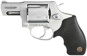 Taurus Model 85 Small Frame Revolver 2850029UL, 38 Special, 2 in BBL, Sngl / Dbl, Rubber Grips, Fixed Sights, Mt Stainless Finish, 5 Rds