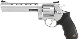 Taurus Model 608 Large Frame Revolver 2608069, 357 Remington Mag, 6 1/2 in BBL, Sngl / Dbl, Rubber Grips, Adj Sights, Mt Stainless Finish, 8 Rds