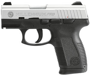 Taurus Model PT-145 Millenium Pro Pistol 1145039P, 45 ACP, 3.25 in BBL, Dbl Actn Only, Polymer Grips, Stainless Finish, 10 + 1 Rds