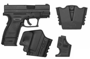 Springfield Model XD Package XD9801SP06, 9 MM, 3 in BBL, Dbl Actn Only, Polymer Grips, Blk Finish, 10 + 1 Rds