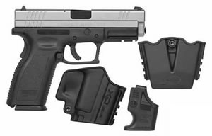 Springfield Model XD Package XD9302SP06, 40 S&W, 4 in BBL, Dbl Actn Only, Polymer Grips, Stainless Slide/Blk Frame, 10 + 1 Rds