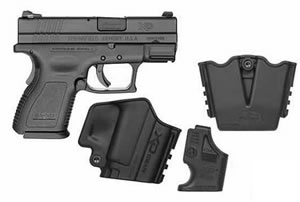 Springfield Model XD Package XD9810HCSP06, 9 MM, 3 in BBL, Dbl Actn Only, Polymer Grips, Heinie Tritium Slant Pro Night Sights, Blk Finish, 10 + 1, 16 + 1