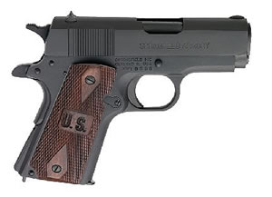 Springfield GI Micro Pistol PW9801LP, 45 ACP, 3 in BBL, Sngl / Dbl, Wood Grips, Low Prof Military Sights, Park Finish, 6 + 1 Rds