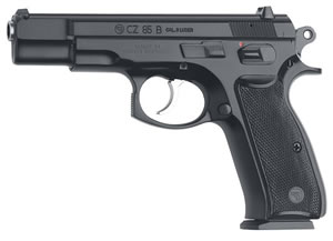 CZ Model 85B Pistol 01201, 9 MM, 4.7 in BBL, Sngl / Dbl, Blk Syn Grips, Fixed Sights, Blk Finish, 10 + 1 Rds